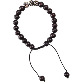 Sherpa Mala Three Stone Braccialetto, black